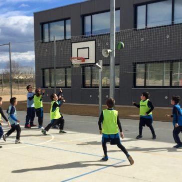 Partit amistós equip de bàsquet